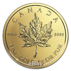 Gold Maple Leaf 1 Gramme De 99,99% D'or Maplegram 25 (dans Le Dosage) Canada 2020