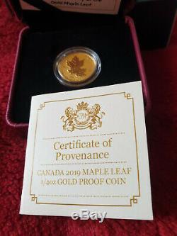 I / 4 Ounce. 9999 Preuve Inverse Limited Edition Maple Leaf