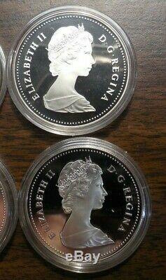 Lot De 10 1982 Canada. 500 Silver Proof Dollars Regina Centennial -dans Boîtes