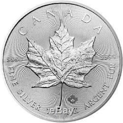 Lot De 10 2020 $ 5 D'argent Feuille D'érable Canadienne 1 Oz Brillant Uncirculated