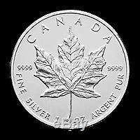 Lot De 10 X 1 Oz Au Hasard Année Feuille D'érable Canadienne Pièce D'argent