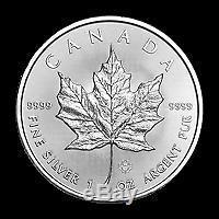 Lot De 100 X 1 Oz 2019 D'érable Du Canada Feuille Pièce D'argent