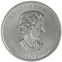 Lot De 5 2015 Canada 1 Oz D'argent Feuille D'érable Bu Coin Ronde