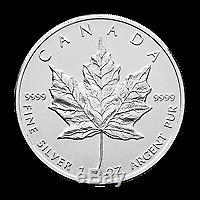 Lot De 50 X 1 Oz Au Hasard Année Feuille D'érable Canadienne Pièce D'argent