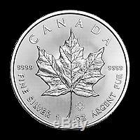 Lot De 500 X 1 Oz 2019 D'érable Du Canada Feuille Pièce D'argent