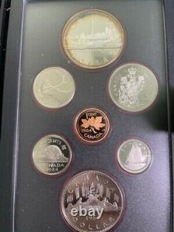 Lot Of Ten (1981-1990 Royal) Canadian Mint Proof Sets Silver Dollars Box, Coa