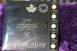 Maplegram Gold Canadien 2019 (1) Pièce D'or D'un Gramme