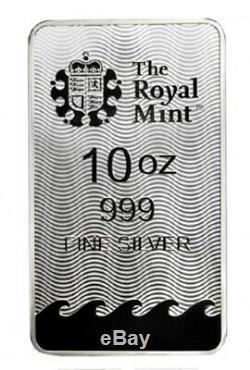 Monnaie Royale Britannia 10 Oz D'argent Bar Gem Bu