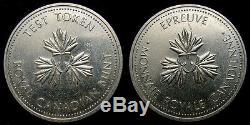 Monnaie Royale Canadienne $ 1,00 Token Test Rare Unique Circa 1983 Non Publié Loonie 1