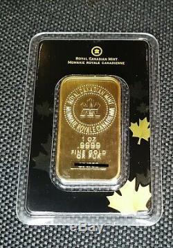 Monnaie Royale Canadienne 1 Once D'or Scellé Dans Essayeur Cas