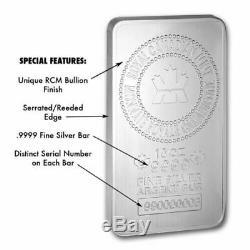 Monnaie Royale Canadienne 10 Oz D'argent Bar Enveloppé Et Scellé