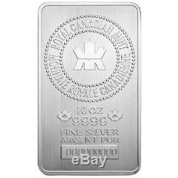 Monnaie Royale Canadienne 10 Oz Silver Bar