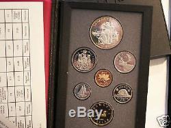 Münzsatz 7 Münzen Canada Monnaie Royale Canadienne 1990 Silber