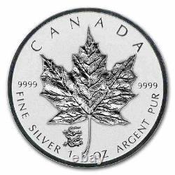 New 2012 Canadian Silver Maple Leaf Dragon Privy 1oz Pcgs Sp69 Pièce De Preuve Graduée