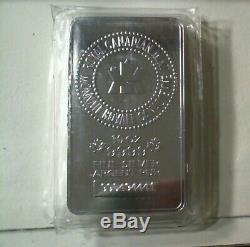 New Sealed Monnaie Royale Canadienne Argent 10 Bars. Ounce 9999 Pur