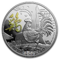 Niue 2017 1 Oz En Argent Épreuve Numismatique Coin- Année Lunaire Du Coq