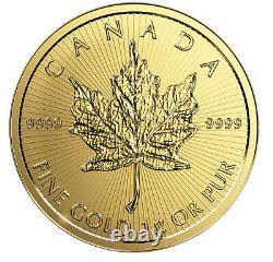 Nouveau 1 Gramme Canada D'érable En Or 50c D'or Maplegram 25 9999 Fine Dans Le Dosage