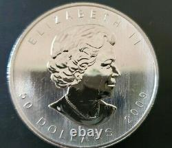 One 2009 Palladium Feuille D'érable Canadienne Capsule 1 Oz 9995 Monnaie Royale Canadienne