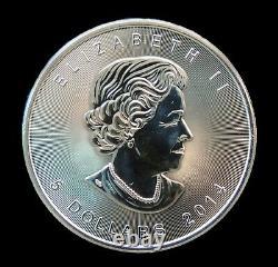Roll Of 25 2014 Canadian 1 Oz Silver Maple Leaf. 99999 Argent Fine Livraison Gratuite