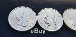 Rouleau De 2017 1,5 Troy Ounce Maple Leaf. 9999 Silver Coins 15 Pièces / 22,5 Onces