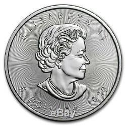 Rouleau De 25 2020 Canada 1 Oz D'argent Feuille D'érable Coins Brillant Uncirculated