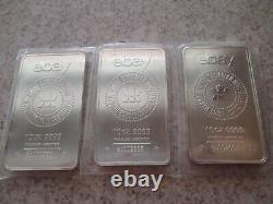 Trois (3) 10 Oz. Barres D'argent Faible Nombres De Série Première Série Ebay Rcm. 9999